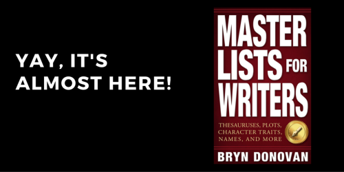 MASTER LISTS FOR WRITERS Launches October 26!