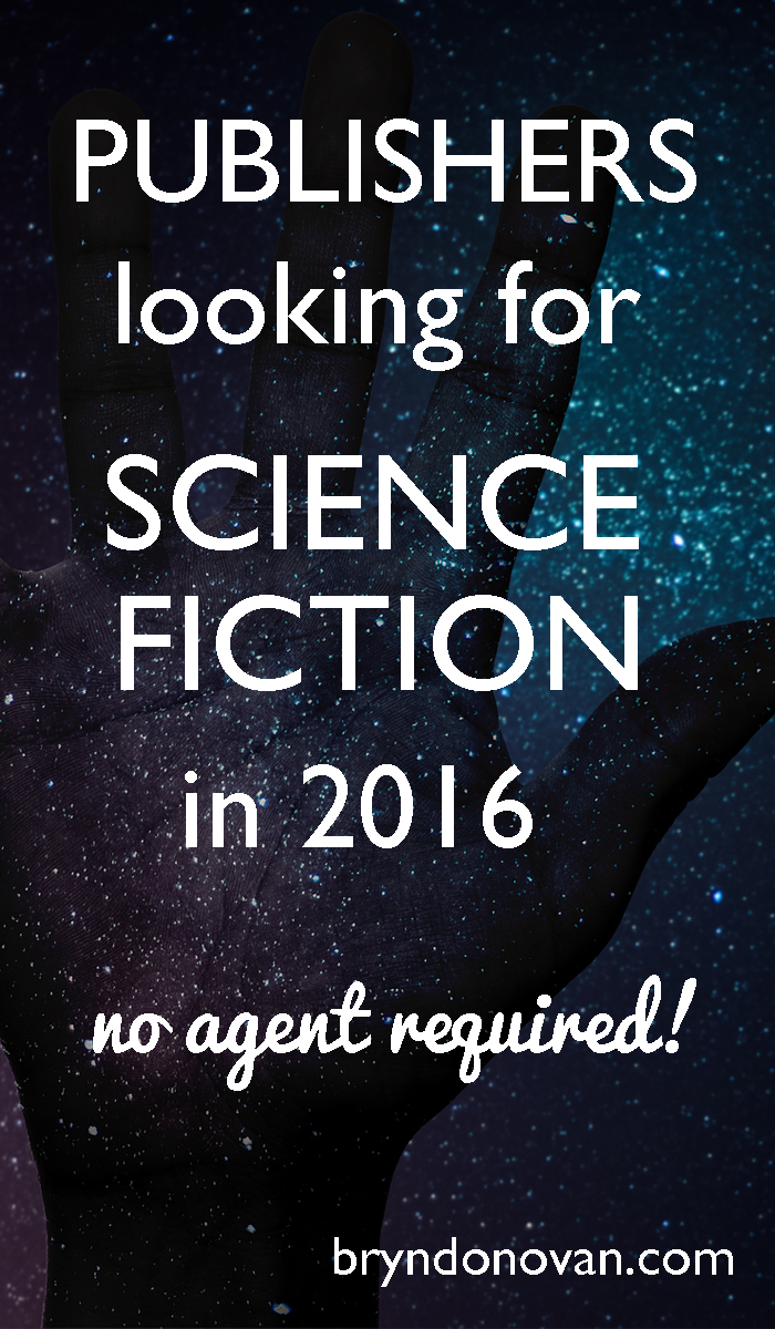 Publishers of Science Fiction 2016 #writing #scifi