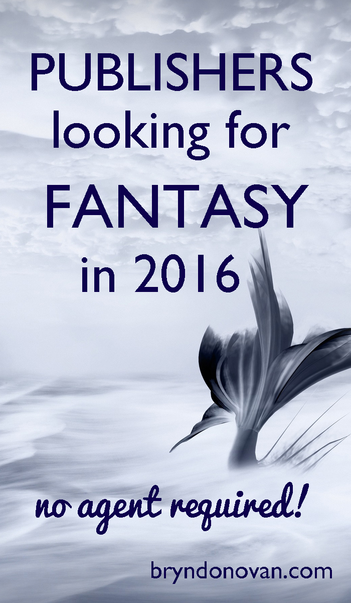 Publishers of Fantasy Novels 2016 #writing #publishing