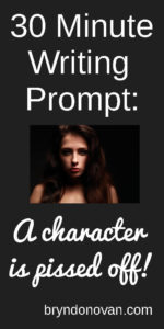 30 Minute Writing Prompt... use as a creative writing exercise or as an addition to your story or novel in progress! #creative writing ideas #emotional words