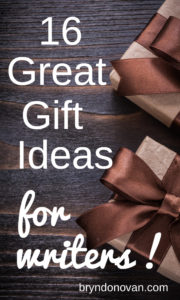 16 Great Gift Ideas for Writers! For birthdays, Christmas, or graduation. Give them, add them to your wish list, or treat yourself. #writing #scriptwriting