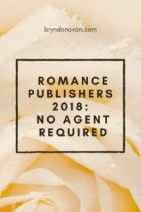 Romance Publishers Who Accept Unsolicited Manuscripts – 2018