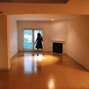 Best Things About 2018. Photo of Bryn Donovan in empty apartment.