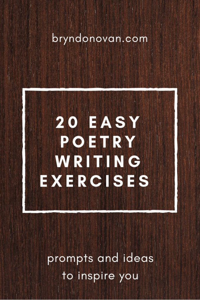 20 Easy Poetry Writing Prompts and Exercises #ideas for poems #how to write a poem #classroom #creative writing #idea starters