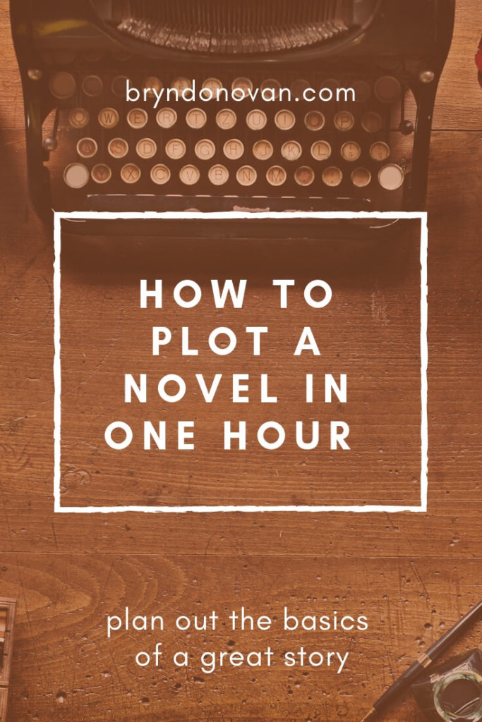 How to Plot a Novel in One Hour #easy ways to outline a novel #Camp NaNoWriMo